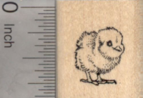 Tiny Baby Chick Rubber Stamp, Chicken