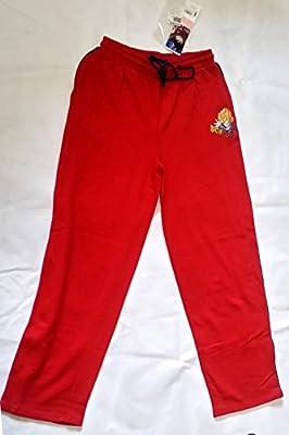 Pantalón largo Chándal Niño Dragon Ball Talla 14 Años Rojo: Amazon ...