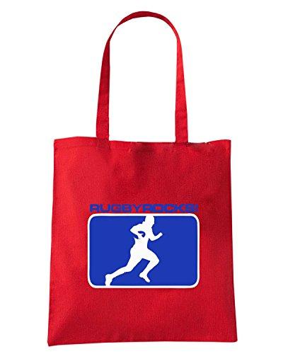 T-Shirtshock - Bolsa para la compra TRUG0153 all rugby logo Rojo