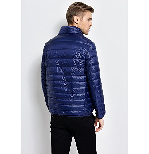 Lovache Down Jacket Lightweight Padded Warm Navy Packable Mens Coat rr7xdq