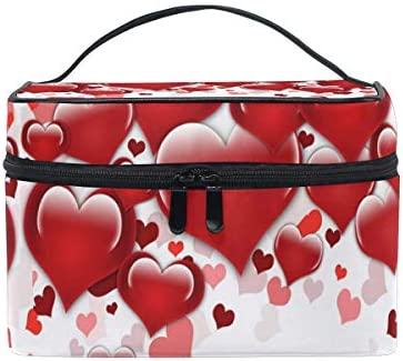 Bolsa de Maquillaje de Viaje Valentine Day Love Hearts Estuche cosmético portátil Organizador Bolsa de Aseo Bolsa de Maquillaje Estuche de Tren para Mujer: Amazon.es: Equipaje