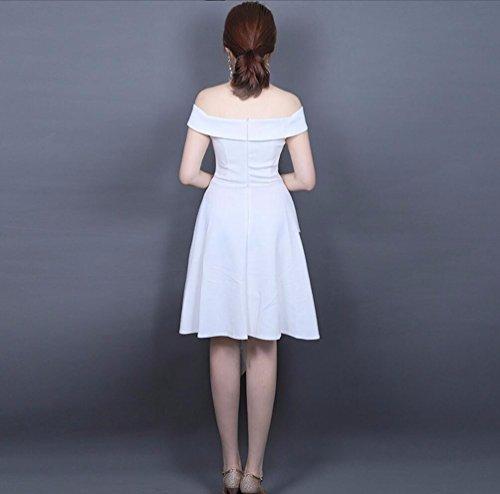 Moda Vestido Mujer Corto Corto Noche Largo Corto WBXAZL Vestido Vestido Blanco de Yw76x6qX