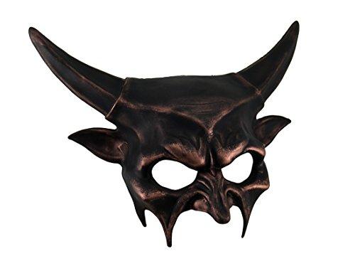 Metallic Half Face Demon Mask ()