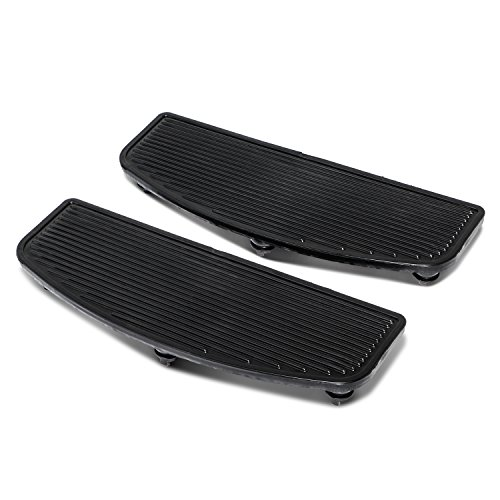 Senkauto Black Front Rubber Rider Insert Floorboard Footboards Foot Peg Boards For Harley Touring Electra Road Kind by Senkauto (Image #3)