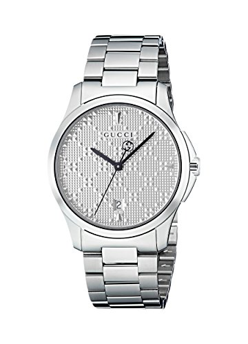 Gucci G-Timeless Diamante Silver Dial Ladies Watch YA1264024 - Gucci Stainless Steel Wrist Watch