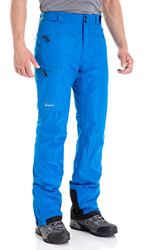 Clothin Men's Insulated Ski Pant Fleece-Lined Waterproof Snow Pants Blue 2XL(Regular Fit)