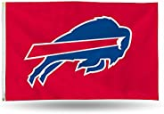 NFL Rico Industries 3-Foot by 5-Foot Single Sided Banner Flag with Grommets, Buffalo Bills