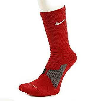 Nike Hyperelite Basketball Crew Dri-Fit Men's Socks Varsity Red/White SX4801-661 (SIZE: S)