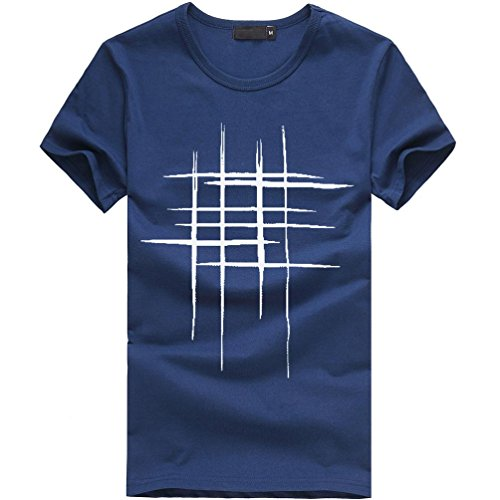 Big Promotion! Wintialy Men Printing Tees Shirt Short Sleeve T Shirt Cotton Casual Blouse ()