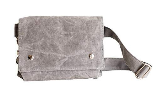 Fanny Pack, Belt Bag for Women   Stylish, Practical, Minimal   Fits Phone, Wallet (Light Gray)