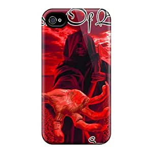 Scratch Resistant Hard Cell-phone Case For Iphone 4/4s (WNK5112fcRY) Provide Private Custom Colorful Children Of Bodom Band Series