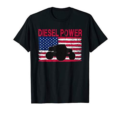 Diesel Power Flag | Truck Turbo Mechanic T-Shirt (Nissan 4-2 Turbo Diesel Engine For Sale)
