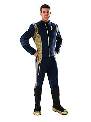 Rubie's Men's Star Trek Discovery Command Costume Uniform, Gold, Standard