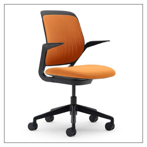 Steelcase Cobi Chair, Tangerine Fabric