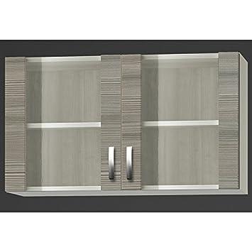 Optifit Glas-Hängeschrank »Vigo«, Breite 100 cm grau Made in ...