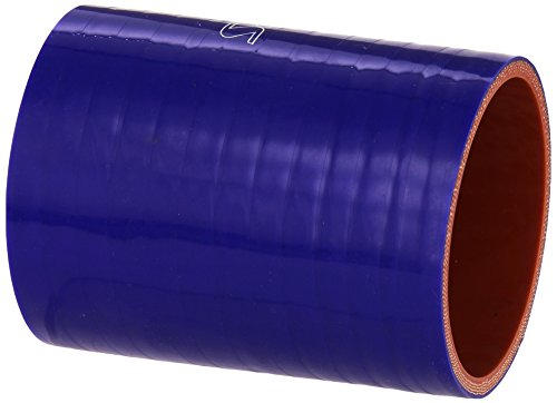 HPS HTSC-275-L4-BLUE Silicone High Temperature 4-ply Reinforced Straight Coupler Hose, 70 PSI Maximum Pressure, 4