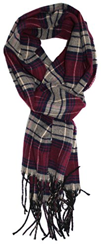 Checkered Scarf (Ted and Jack - Ted's Classic Cashmere Feel Checkered or Plaid Scarf (Crimson Check))
