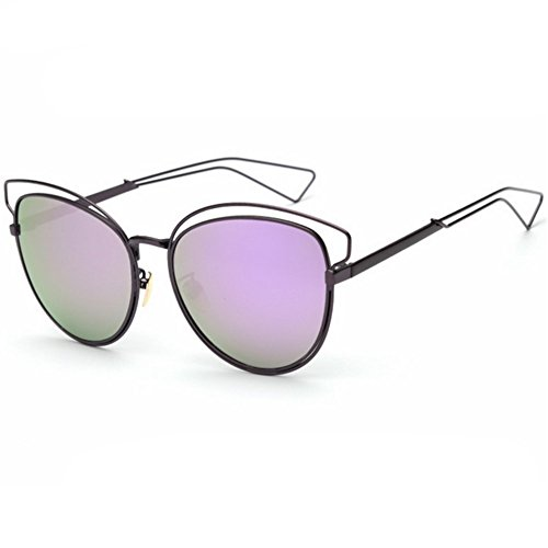 Z-P Women's New Style Fashion Metal Frame Color Film Lens Cat Ears Sunglasses - Price Rb3447