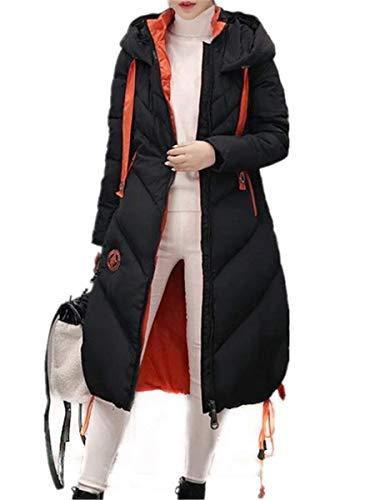 Doudoune Trench Parka avec Fermeture Unicolore Poches Serrage Cordon Longues Vent Confortable Femme Manches Style De Schwarz Spcial Avant Coupe Longues Hiver clair avec rZFqaxUrHw