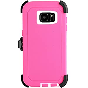 Galaxy S7 Edge Case, Kuool® Heavy Duty Rugged Scratch Resistant Shockproof Max Protective with Belt Clip & Built-in Screen Protector Case for Galaxy S7 Edge by Anzebra