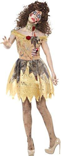 Zombie Golden Fairytale Costume Yellow Large Uk Dress -