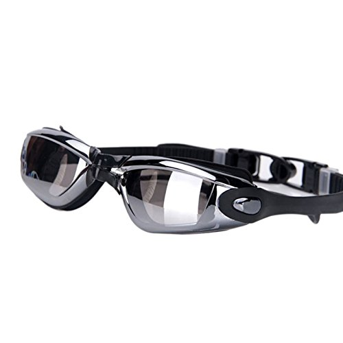 J&T Swimming Goggles Glasses Silicone Anti-Fog Anti-UV for Kids Adults + Ear Plug