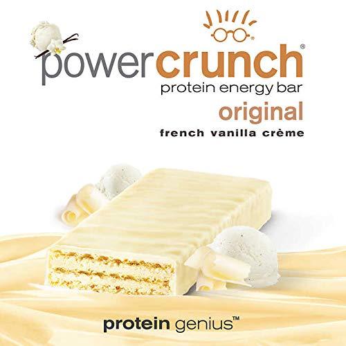 Power Crunch Protein Energy Bar, French Vanilla Creme, 12 pk 1.4 oz 40 g