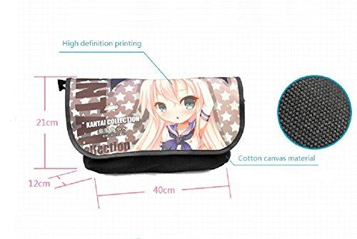 miraclel Anime Cosplay Canvas Rucksack Messenger Bag Umhängetasche schwarz Tokyo Ghoul 40cmx21cmx12cm Tokyo Ghoul