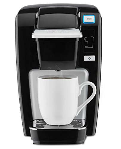 Keurig K-Mini K15 Single-Serve K-Cup Pod Coffee Maker, Black (Great Tray 1)