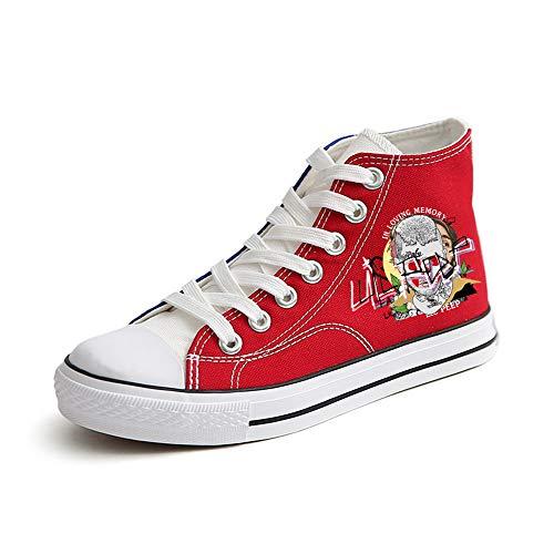 Zapatos Personalidad Impresión Deportivo Gama Cómodo Lienzo Red16 Nuevos Animados Dibujos Calzado Moda Clásicos Alta Peeps Logo Con De Tendencia Unisex Lil 7Uw8ntFq8