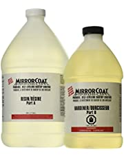 System Three 0500K46 Clear MirrorCoat Self-Leveling Bar and Tabletop Coating, 1.5 gal Bottle