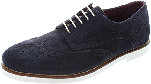London Brogues Francis Herren Wildleder Halbschuhe Navy/White