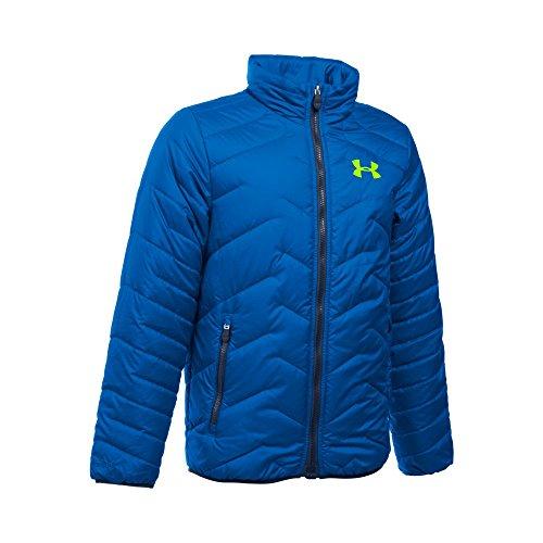 (Under Armour Boys' UA ColdGear Jacket (Big Kids), Ultra Blue (907)/Fuel Green, Youth Medium)