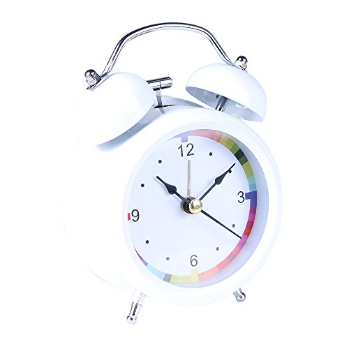 Classic Simple Metal Shell Two-Way Bell Alarm Clock Home Decoration