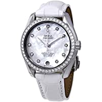 Omega Automatic Diamond White Mother of Pearl Dial Ladies Watch