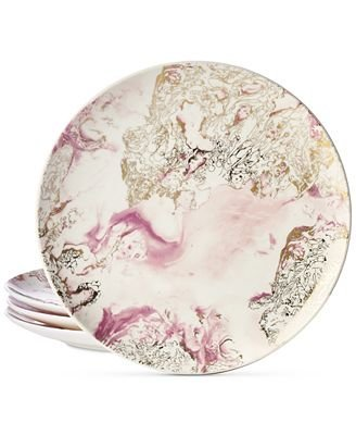 Collection Harvest 4-Pc. Marbled Salad Plate Set