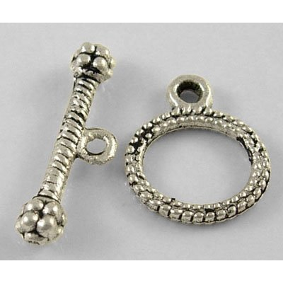 UPC 790748975356, DIY Jewelry Making: 12 sets Alloy Toggle Clasps, Antique Silver Color