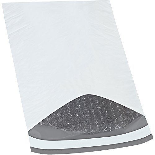 Partners Brand Bubble Lined Poly Mailers 7 1 4 x 8 7.25 Width 8 Length White Pack of 25