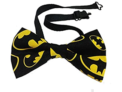 "Batman Bow Tie Cotton Adult 4.5"" x 2.5"" Adjustable to 18 Inches"