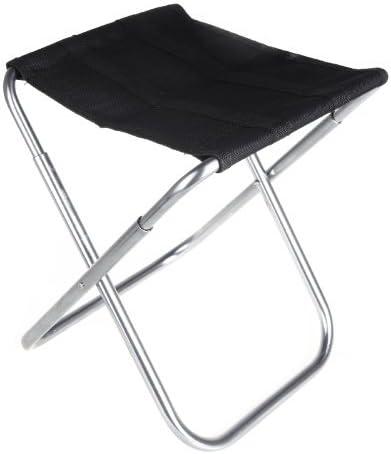 TOOGOO Chaise pliante Portable chaise pliant en aluminium Oxford tissu Patio exterieur peche Camping avec sac de transpport noir R