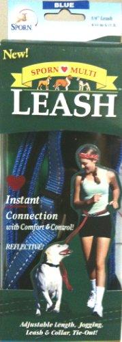 10601 Sporn Blue Reflective Multi Function Dog Jogging Leash, My Pet Supplies