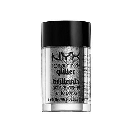 NYX Cosmetics Face & Body Glitter Silver