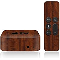 iCarbons Dark Wood Skin for Apple TV 4th Gen. / Remote Skin Included 4th Generation