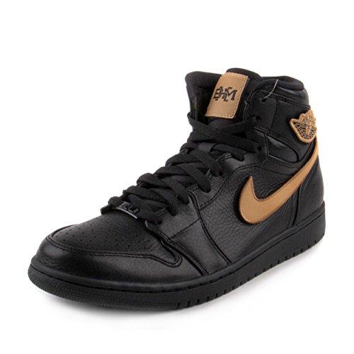 Jordan Air 1 Retro High BHM Men's Shoe Black/Metallic Gold/Black 908656-001 (11 D(M) US)