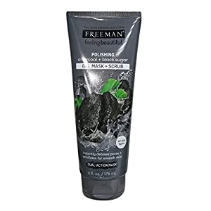 Freeman Facial Charcoal and Black Sugar Polish Mask, 6 oz., Pack of 3