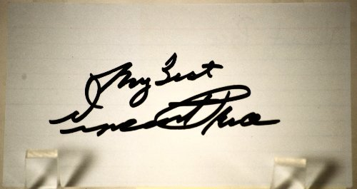 Vincent Price Signed 3x5 Card - Signed Late in Life - Autograph in Black Sharpie - Master of Horror - The Raven / Batman / House of Wax / Oblong Box / The Fly - Rare - Guaranteed - Collectible from Bamber