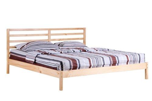 Sixbros letto in legno letto futon letto matrimoniale legno pino naturale 200x200 pb n 200 - Letto matrimoniale 200x200 ...