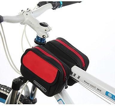 ROSWHEEL? Multicolor Ciclismo Bolsa de tubo superior delantera para bicicleta alforja para bicicleta doble bolsa paquete: Amazon.es: Deportes y aire libre