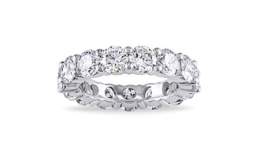 5.00mm Sterling Silver 925 Cubic Zirconia Cz Eternity Engagement Wedding Band Ring (7)
