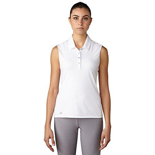 adidas Golf Women's Essentials Cotton Sleeveless Tee, White, Small